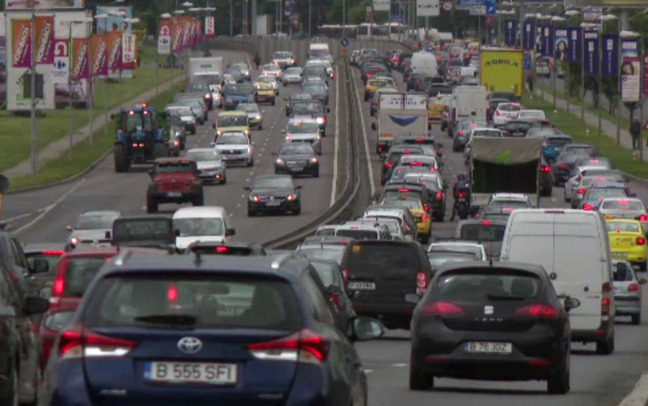Soferi romani in trafic